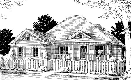 Cottage Traditional House Plan 68513 Elevation
