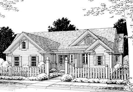 Traditional House Plan 68514 Elevation