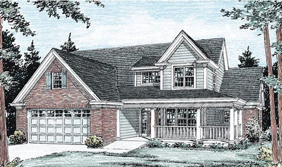 Traditional House Plan 68516 Elevation