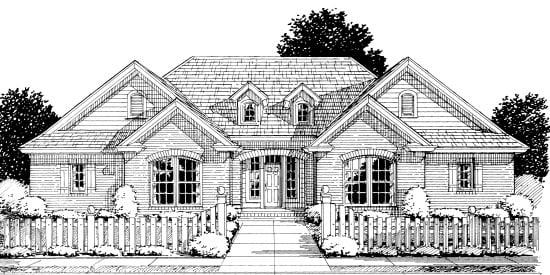 European Traditional House Plan 68524 Elevation