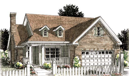 Traditional House Plan 68536 Elevation