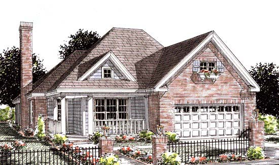 Traditional House Plan 68537 Elevation