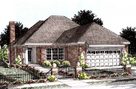 Traditional House Plan 68538 Elevation