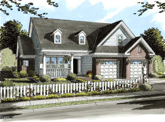 Traditional House Plan 68544 Elevation