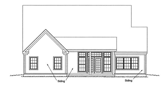 Traditional House Plan 68544 Rear Elevation