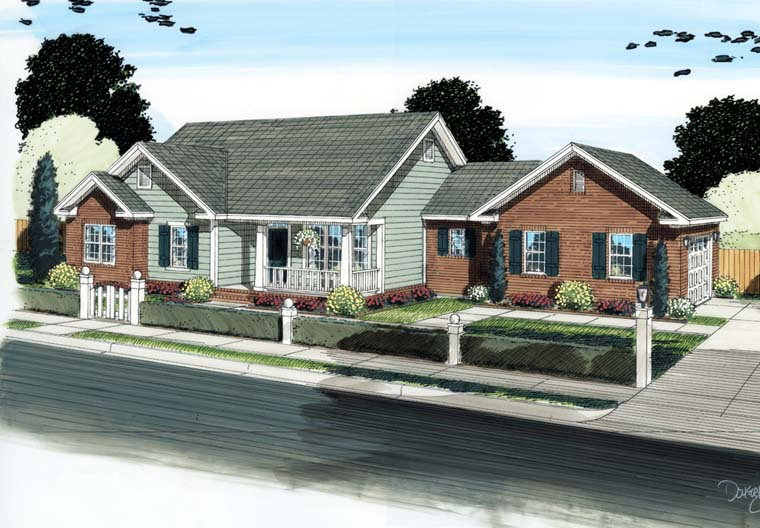 Ranch Traditional House Plan 68566 Elevation