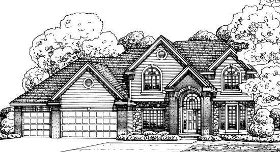 European Tudor House Plan 68582 Elevation