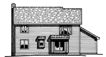 Country House Plan 68618 Rear Elevation