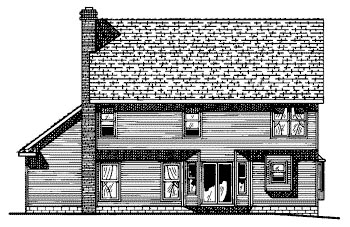 Country House Plan 68625 Rear Elevation