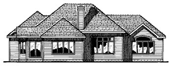 Traditional House Plan 68631 Rear Elevation