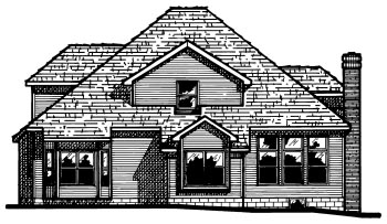 Country House Plan 68634 Rear Elevation