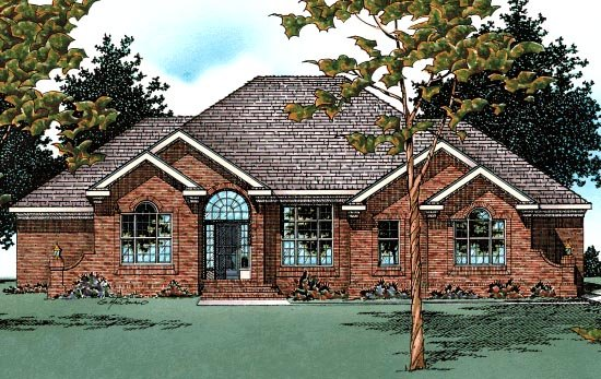 Traditional House Plan 68648 Elevation