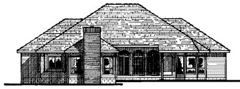 Traditional House Plan 68648 Rear Elevation