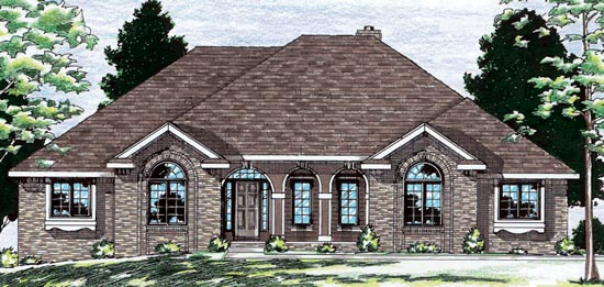 European House Plan 68674 Elevation