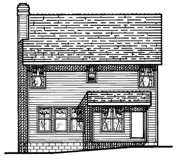 Colonial House Plan 68677 Rear Elevation