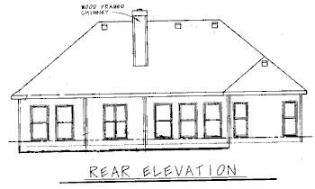 European House Plan 68728 Rear Elevation