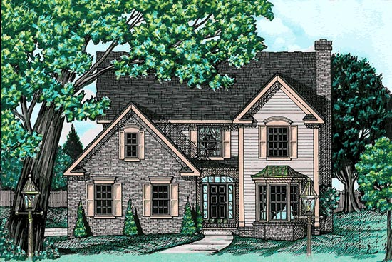 Country House Plan 68734 Elevation