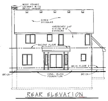 Country House Plan 68734 Rear Elevation