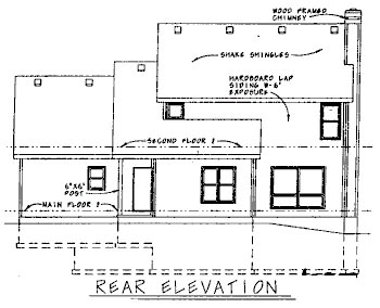 Farmhouse House Plan 68736 Rear Elevation
