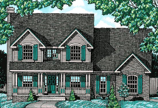 Country House Plan 68739 Elevation