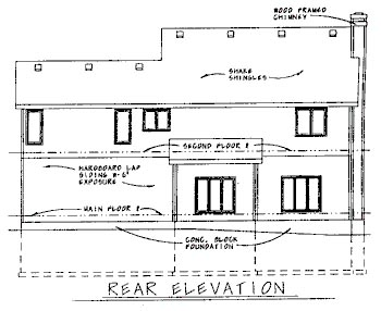 Country House Plan 68739 Rear Elevation
