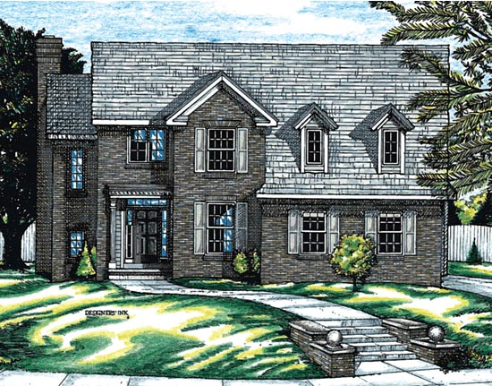 Country House Plan 68753 Elevation