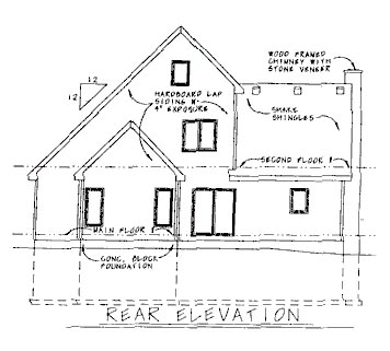 Traditional House Plan 68769 Rear Elevation