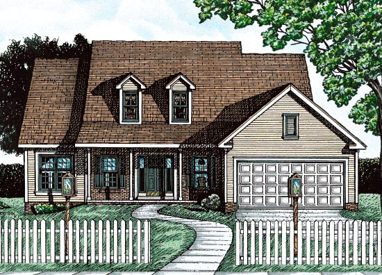 Country House Plan 68782 Elevation