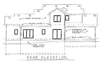 Traditional House Plan 68788 Rear Elevation