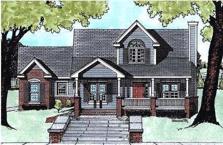Country House Plan 68789 with 3 Beds, 3 Baths, 2 Car Garage