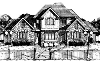 Tudor House Plan 68793 Elevation