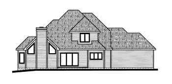 Tudor House Plan 68793 Rear Elevation