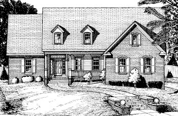 Cape Cod Country House Plan 68804 Elevation