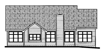 Cape Cod Country House Plan 68804 Rear Elevation