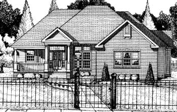 Colonial European House Plan 68816 Elevation