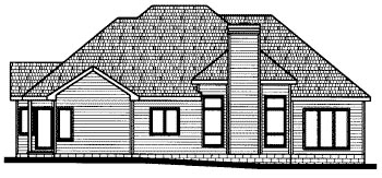 Colonial European House Plan 68816 Rear Elevation