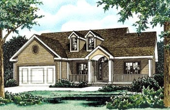 Country House Plan 68824 Elevation