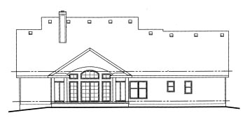 Country House Plan 68825 Rear Elevation