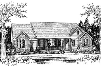 Traditional House Plan 68827 Elevation