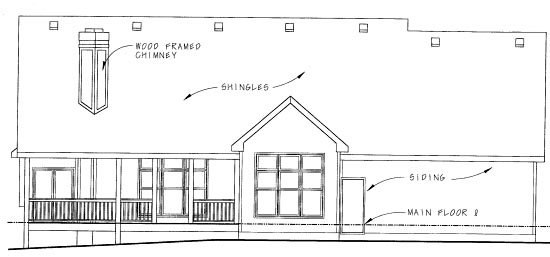Traditional House Plan 68827 Rear Elevation