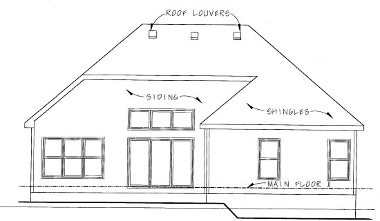 Traditional House Plan 68834 Rear Elevation