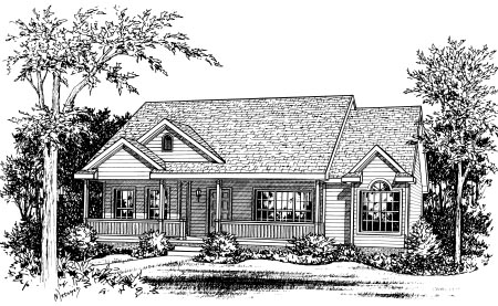 Ranch House Plan 68835 Elevation