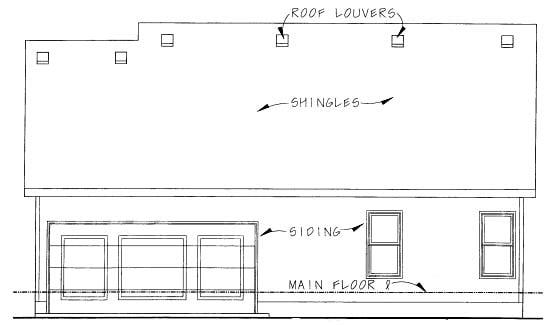 Ranch House Plan 68835 Rear Elevation