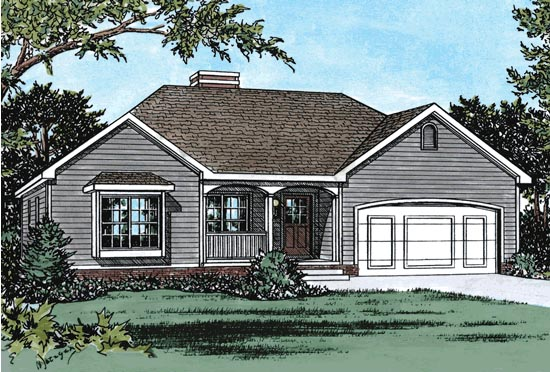 Traditional House Plan 68838 Elevation
