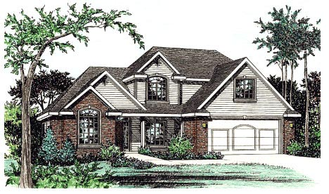 Country House Plan 68843 Elevation
