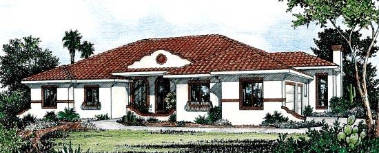 Mediterranean House Plan 68859 Elevation