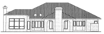 Mediterranean House Plan 68859 Rear Elevation