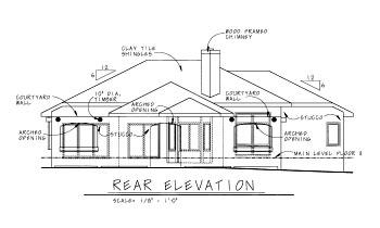 Mediterranean House Plan 68861 Rear Elevation