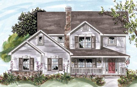 Country House Plan 68873 Elevation