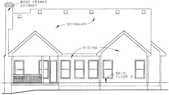 Country House Plan 68876 Rear Elevation
